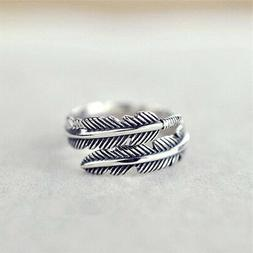 1 Pc Vintage Feather Arrow Opening Rings For Women And Men S