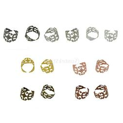 10pcs 18mm Adjustable Ring Blank Base for Jewelry Making Fin