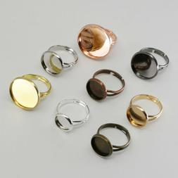 10pcs/lot Adjustable Blank Ring Base Tray for DIY Jewelry Ma