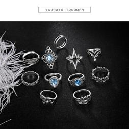 11 Pcs Women's Stacking Rings Joint Above Knuckle Stackable