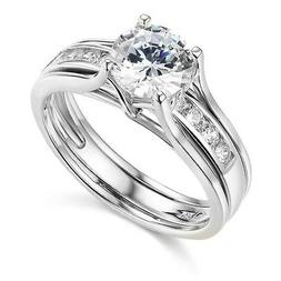 TWJC 14k Yellow OR White Gold Solid Engagement Ring & Weddin