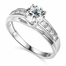 TWJC 14k Yellow OR White Gold Solid Wedding Engagement Ring