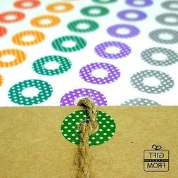 160pcs Round Hole Reinforcement Stickers_Colorful Hang Tag R