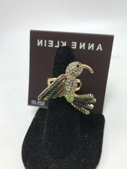$25 Anne Klein gold tone  bird stretch  ring R1