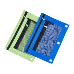 3 Rings Binder Pencil Pouch with Black Dismountable Zipper P