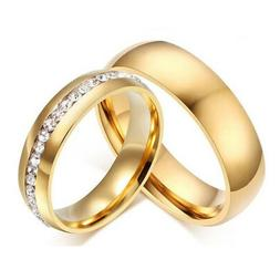 316l stainless steel wedding silver gold band