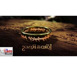 """8mm Lord of the Rings Hobbit """"The One Ring"""" Laser Engraved 1"""