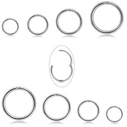 Jstyle 8Pcs 16G Surgical Steel Hinged Clicker Segment Nose R