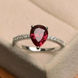925 Silver Natural  Certified 3 Carat Rubby Gemstone  Engage