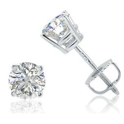 ags certified 1ct tw 14k white gold