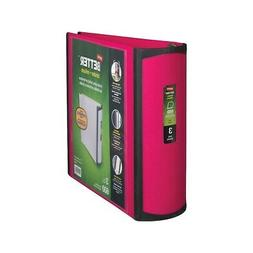 Staples Better 3-Inch D 3-Ring View Binder Pink  702876