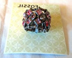FOSSIL BRAND JEWELRY BERRY BLING RING WITH PINK & PURPLE CRY