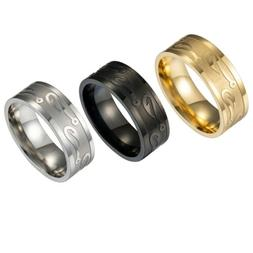 Cool Chic Men's Stainless Steel Band Ring Fishhook Pattern F