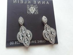 earrings silver tone new over stock