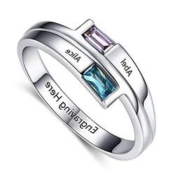 Engagement Women Promise Rings for Her Personalized Engraved