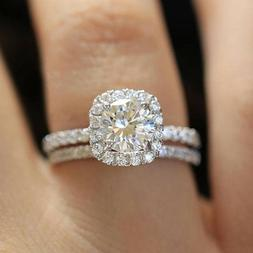 Fashion 925 Silver Filled Rings for Women White Sapphire Wed