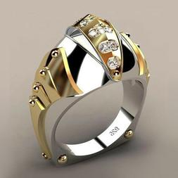 Fashion Simple Men Gold Fish Mouth Shape Alloy Wedding Ring