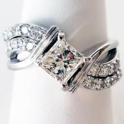 Fashion White Sapphire Ring Jewelry 925 Silver Wedding Rings