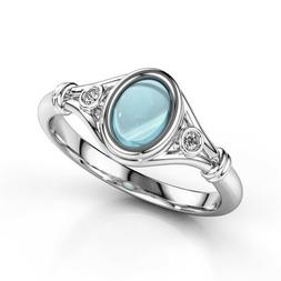 Fashion Women's Wedding Rings 925 Silver Jewelry Moonstone R