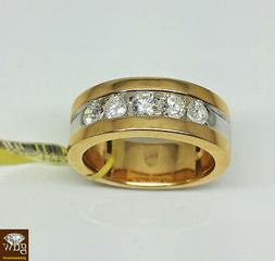 Genuine Brand New 14k Yellow Gold Mens Wedding Band With Rea