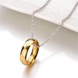 Gold Plated Lord of the Rings Necklace The One Ring LOTR Pen