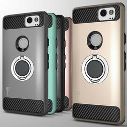 For Google Pixel 2 Hybrid Armor Protective Ring Phone Cover