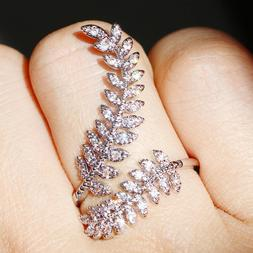 Gorgeous Wedding Rings for Women 925 Silver White Sapphire S