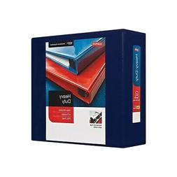 Staples Heavy-Duty 4-Inch D 3-Ring View Binder Navy Blue  97