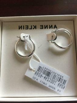 Anne Klein Hoop Earrings NWT New with Tags New With Box Silv