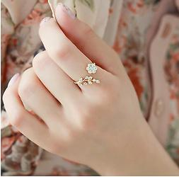 Hot Fashion Adjustable Rings Gold Color&Silver Plated Wishfu