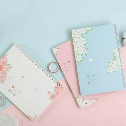 Japanese Style Double Rings Spiral Notbeook Lined Paper Girl