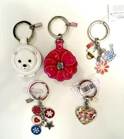Coach Key Ring Chain Fob Your Choice of Various Styles - NWT