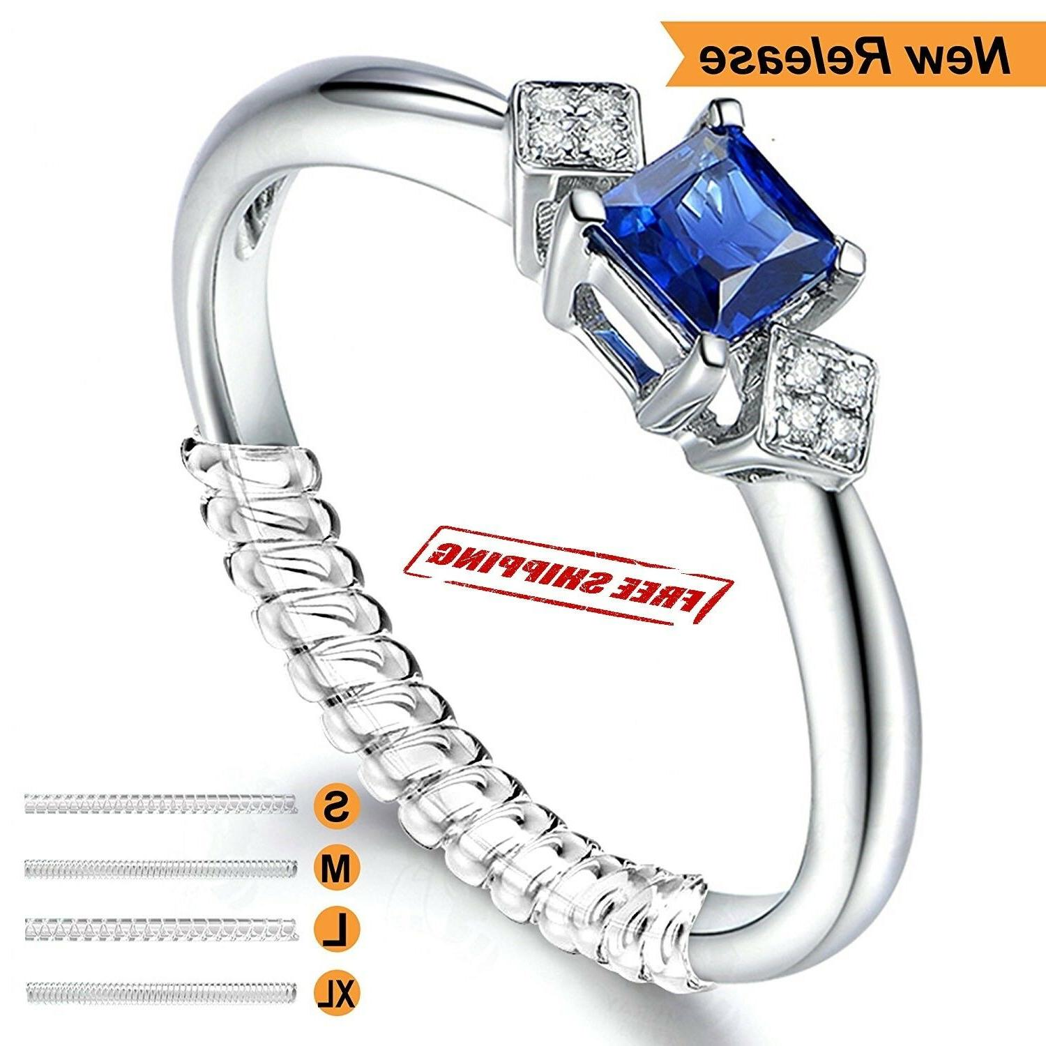 12 pcs ring size adjuster invisible clear