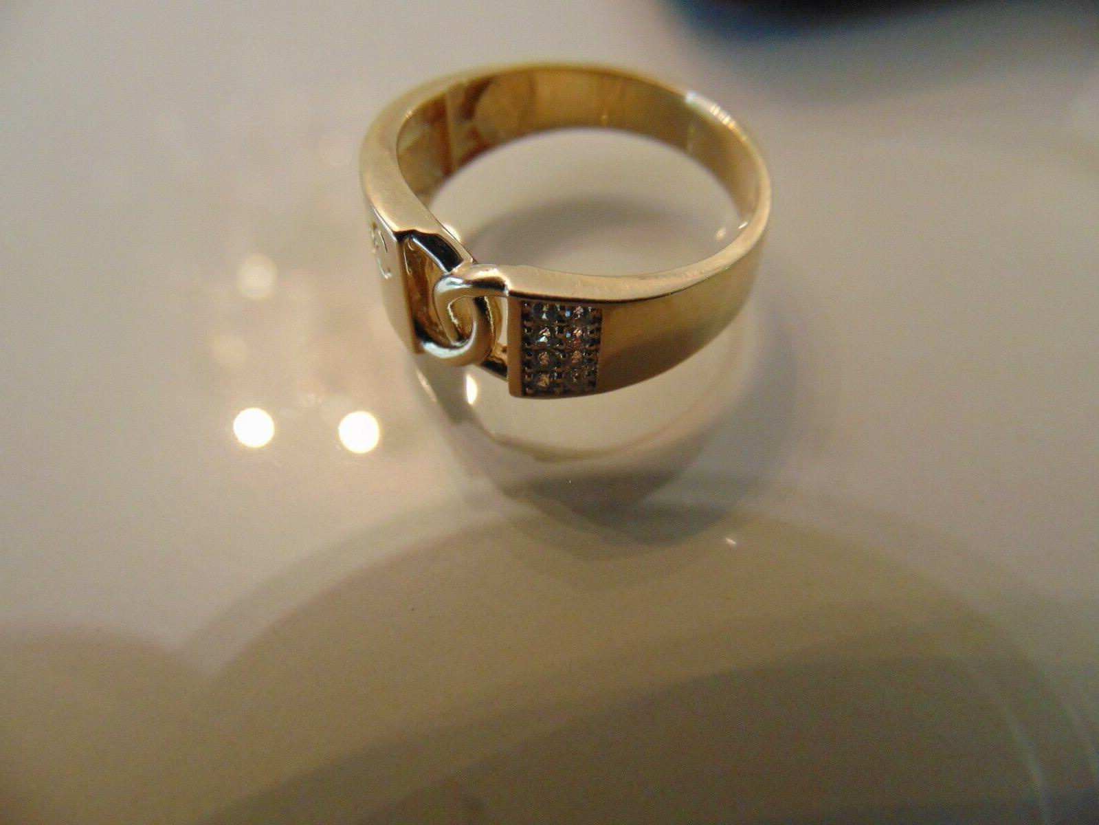 """14k Diamond man engagement with a """"Forever One"""""""
