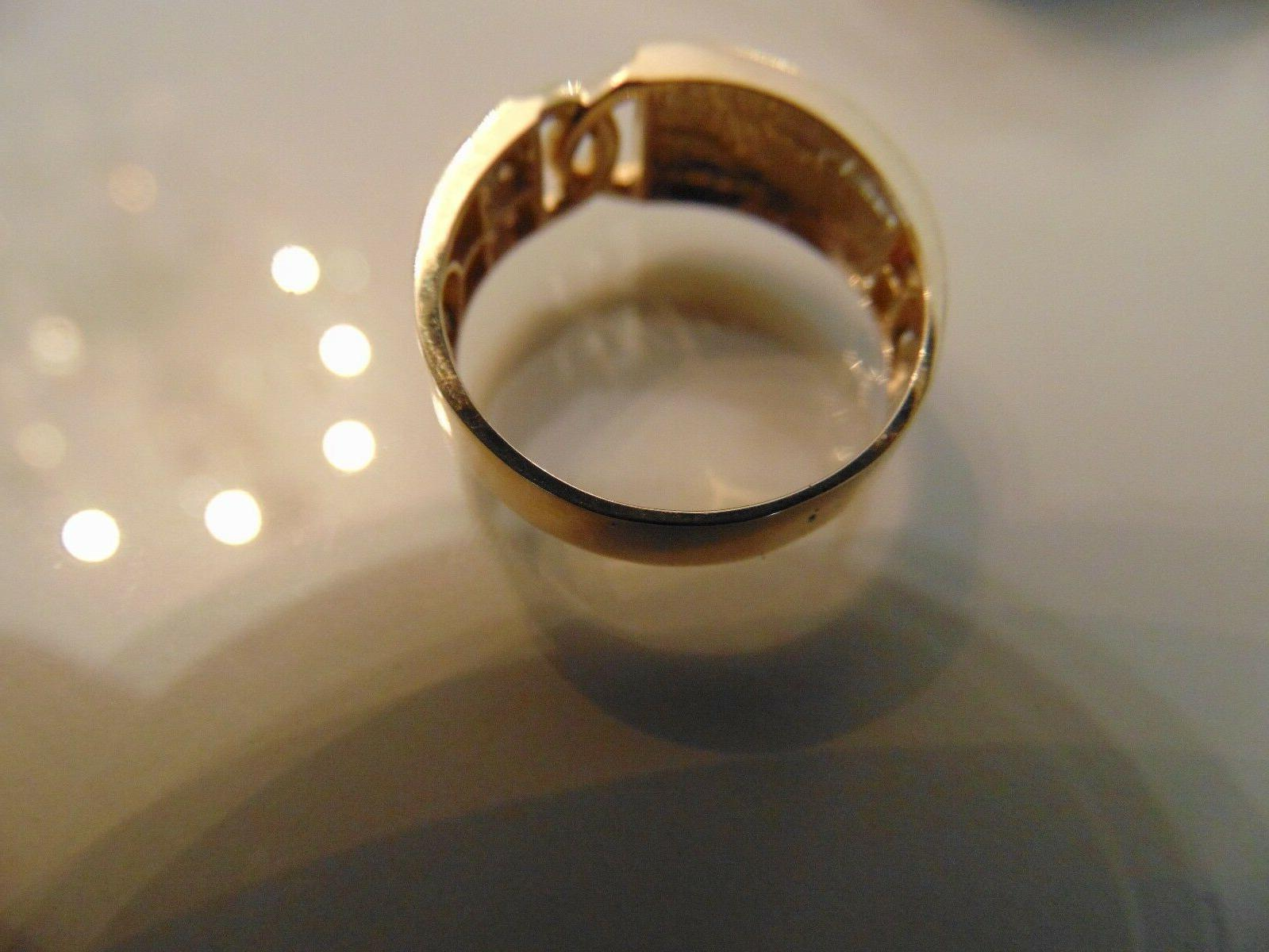 """14k Diamond man ring engagement with One"""""""