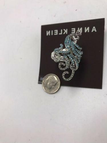 $25 Anne Silver Tone Peacock ring size