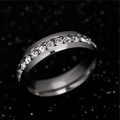 316L Stainless Wedding Silver/Gold Band Men Women Couple 5-13