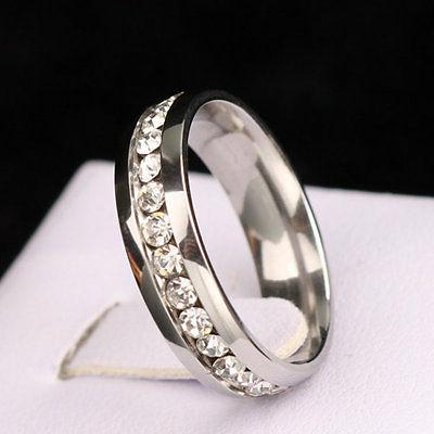 316L Steel Wedding Silver/Gold Band Couple Ring 5-13
