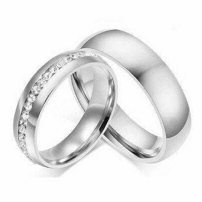 316L Silver/Gold Band Men Couple Ring 5-13