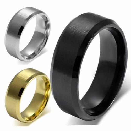 8MM Stainless Band SZ 6 Wedding