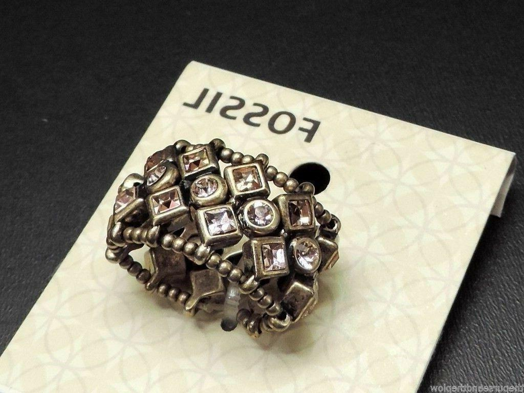 Fossil Bronze Stretch Ring NWT