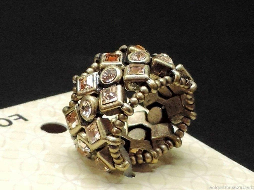 Fossil Bronze Stretch Ring