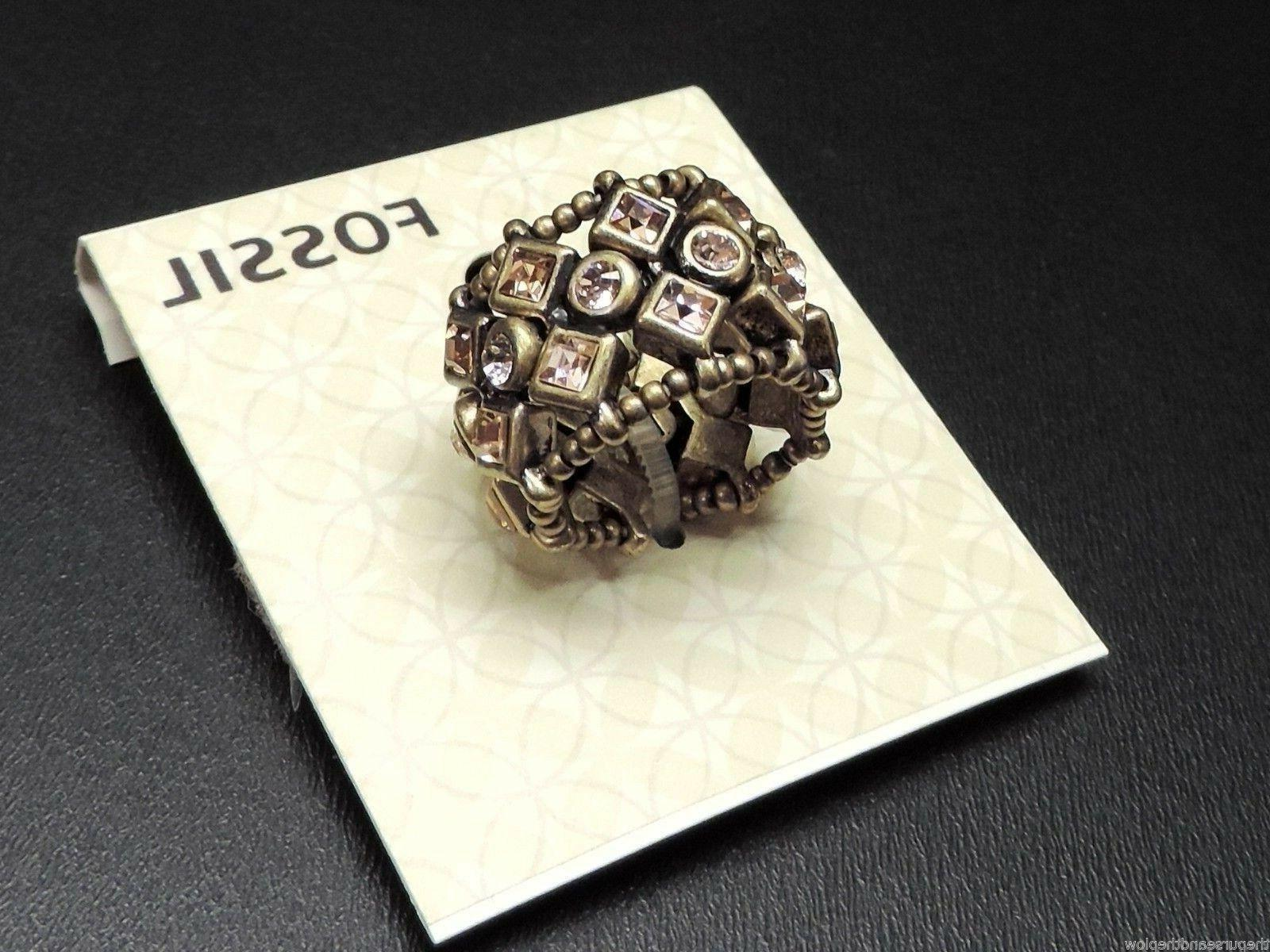 Fossil Bronze Tone Stretch Ring New! NWT