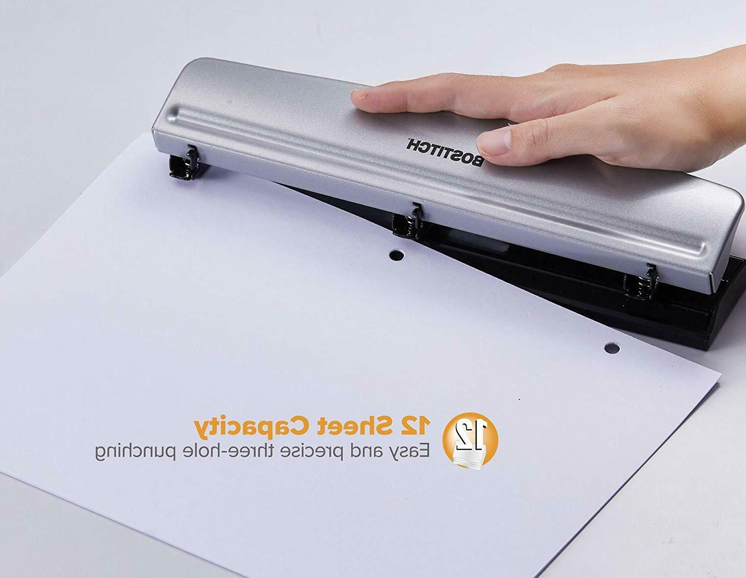 Durable Office Puncher Organized Binder Punch NEW