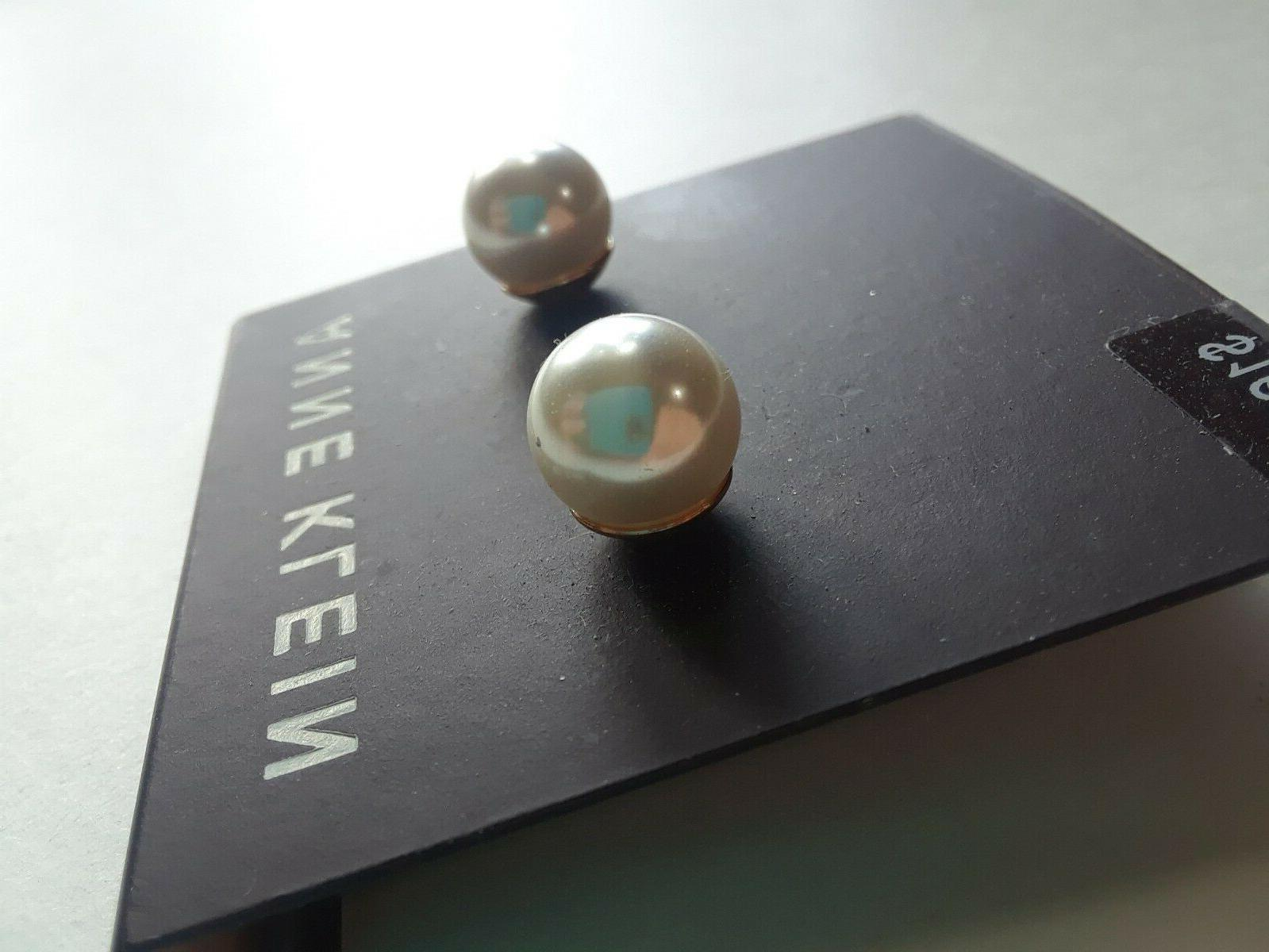 Anne Klein Earrings Tone New Over With