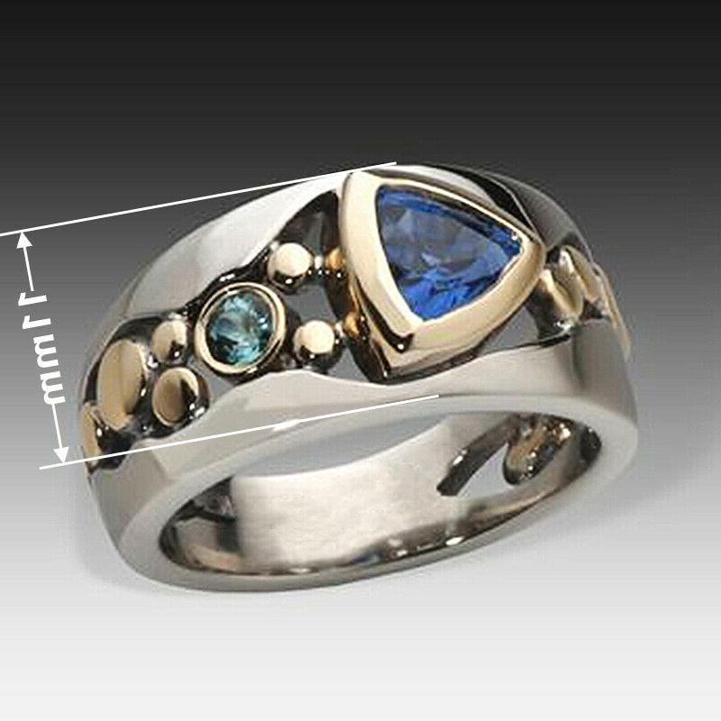 Silver Rings Blue Ring Size 6-10