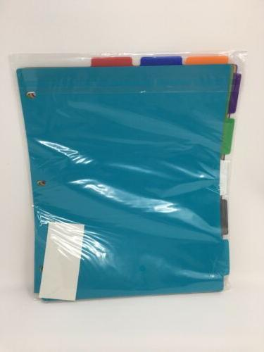 Five Tabs Binder On Wipe for