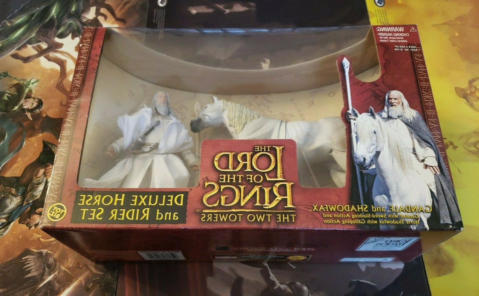 GANDALF THE LORD OF LOTR DELUXE RIDER TOYBIZ