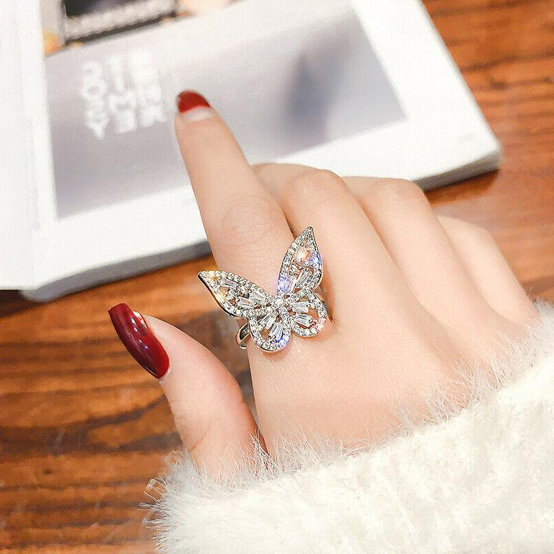 Gorgeous Butterfly Silver Rings Rings