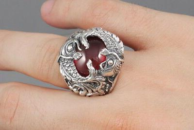 HEAVY POWER JAPANESE 925 SILVER MENS RING